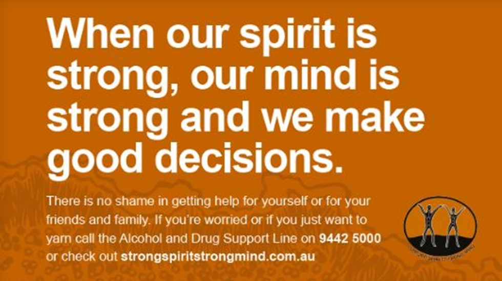 Strong Spirit Strong Mind poster - Strong inner spirit keeps our family strong (featuring a footballer)